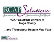RCAP Solutions at Work in Tioga County …and ... - Broome County