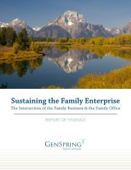 Sustaining the Family Enterprise Report - GenSpring