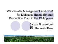 Wastewater Management and CDM for Molasses Based Ethanol ...