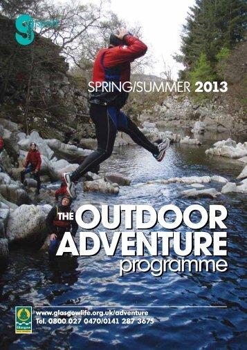 Outdoor Adventure Programme - Glasgow Life