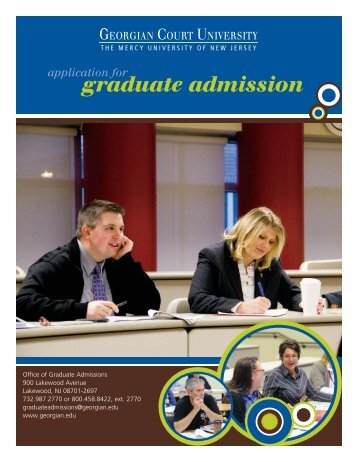 application for graduate admission - Georgian Court University
