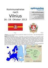 Programm: Fach- und Bildungsreise nach Vilnius im Oktober 2013