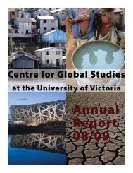 Annual Report 2008-09 - Centre for Global Studies