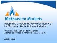 Perspectiva General de la Asociación Metano a los Mercados ...