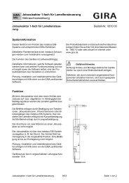 Jalousieaktor 1-fach für Lamellensteuerung Gebrauchsanweisung