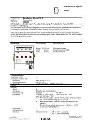 Schaltaktor 4fach mit Handbetätigung 16 A - Gira
