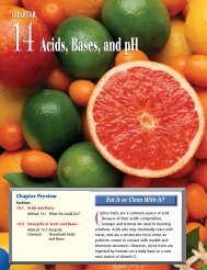 Chapter 14: Acids, Bases, and pH - Glencoe