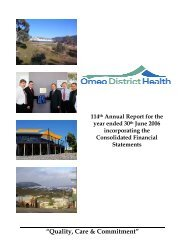 Omeo District Health Annual Report 2005/06