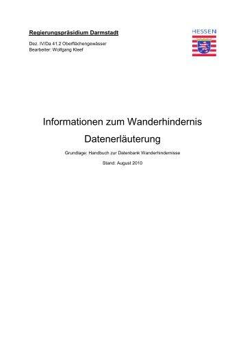 Informationen zum Wanderhindernis-fachliche Inhaltsbeschreibung