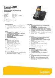 Gigaset AS285 - Telefone