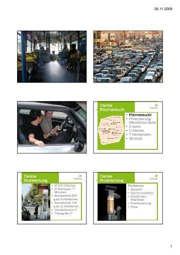 091127 taxito präsentation Salzburg - Gemeindeentwicklung
