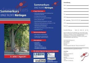 31. Juli bis 7. August 2011 - Gitarre-nuertingen.de