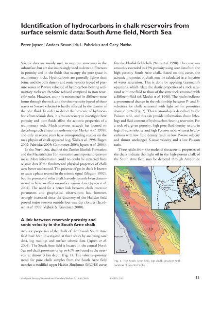 Identification of hydrocarbons in chalk reservoirs from surface - GEUS