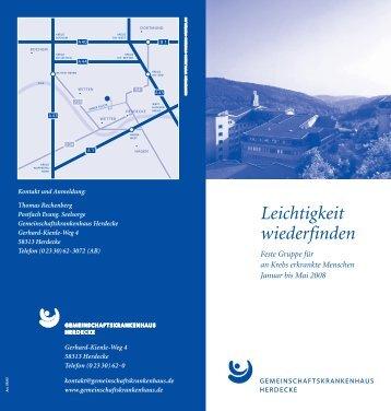 Informationsflyer. - Gemeinschaftskrankenhaus Herdecke