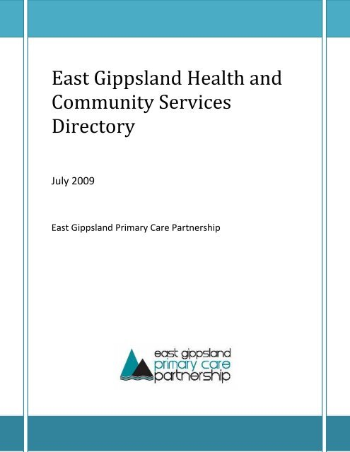 East Gippsland Health and Community Services Directory
