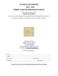 student handbook 2012 - 2013 three oaks senior high school