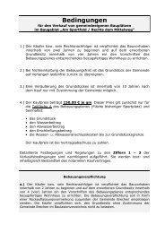 Verkaufsbedingungen - Gemeinde Brechen