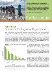 Policy Brief: Guidance for Regional Organizations - GFDRR