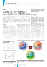 Die NIS AG verbindet Netzinformation mit Instandhaltung - Geomatik ...