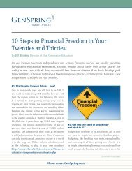 10 Steps to Financial Freedom in Your Twenties and ... - GenSpring