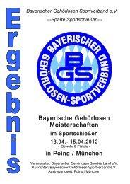 Sparte Sportschießen - Bayerischer Gehörlosen Sportverband eV