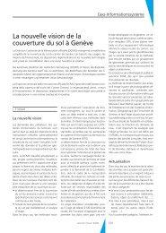 La nouvelle vision de la couverture du sol à Genève - Geomatik ...