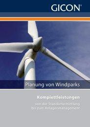 Prospekt Planung von Windparks DE - GICON
