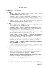 Bibliographie Walter 120301 - Gesundheitsforen Leipzig GmbH
