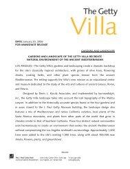 GARDENS AND LANDSCAPE OF THE GETTY VILLA RECREATE
