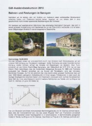 Gdl-Auslandsexkursion 2010 Bahnen und Festungen in Savoyen - gdi