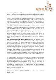 Pressemitteilung, 7. Dezember 2007 gendercc – women for climate ...