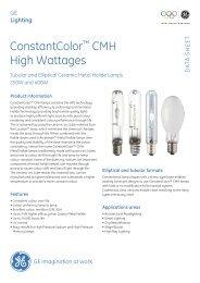 CMH High Wattages Data Sheet - GE Lighting
