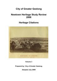 Newtown Heritage Study Review 2008 - City of Greater Geelong