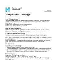 Toxoplasmose - Haresyge.pdf - Glostrup Hospital