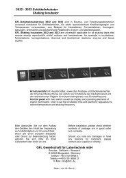 3032 - 3033 Schüttelinkubator Shaking Incubator GFL ... - Gemini BV