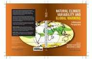 natural climate variability and global warming - UMass Geosciences