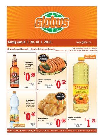Gültig vom 8. 1. bis 14. 1. 2013. - Globus
