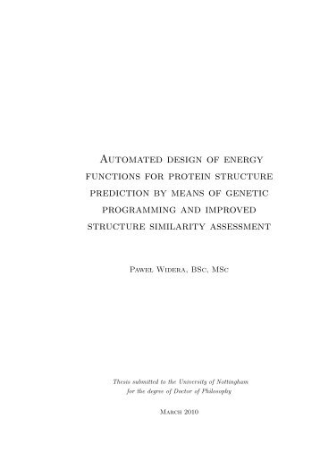 Automated design of energy functions for protein structure prediction
