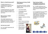 What is a Health Assessment? A Health Assessment is a ...