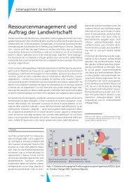 Ressourcenmanagement und Auftrag der Landwirtschaft - Geomatik ...