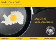 Mediadaten 2013 - Schwäbische Post