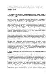 ACTUALIZACIÓN DESDE LA SECRETARÍA DE ALLIANCE FOR MRI
