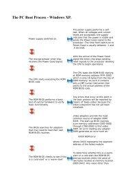 The PC Boot Process - Windows XP.
