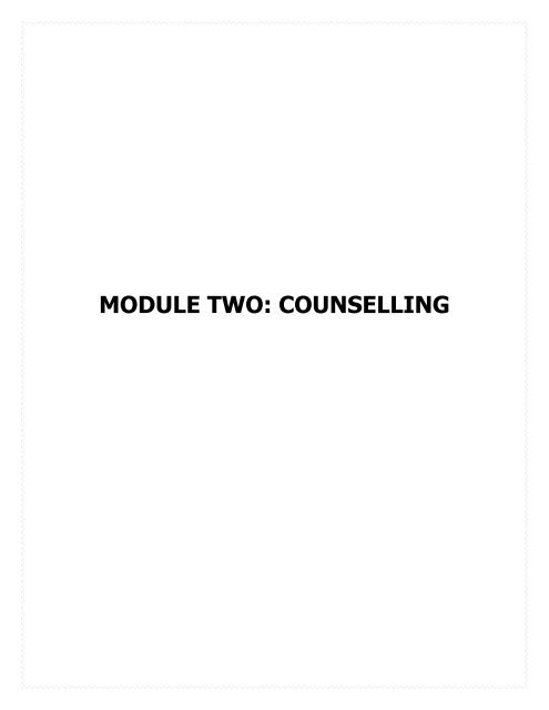 Module Two Counselling Fhi 360 Center For Global Health