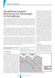 Geodätisches Langzeit- Monitoring von Stauanlagen im Hochgebirge