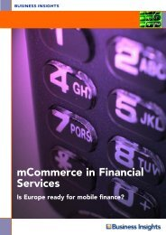 mCommerce in Financial Services - Business Insights