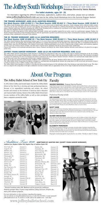 TheJoffrey South Workshops - Georgia College & State University