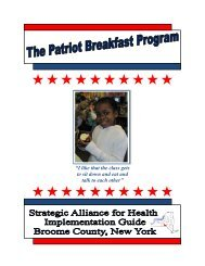 The Patriot Breakfast Program: A Strategic Alliance ... - Broome County