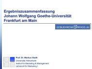 Ergebniszusammenfassung Johann Wolfgang Goethe-Universität ...