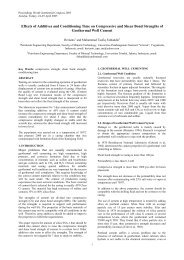 Effects of Additives and Conditioning Time on Compressive and ...